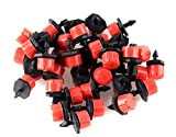 Adjustable Irrigation Sprinklers Emitter Drip System on 1/4″ Barb 60pcs For Sale