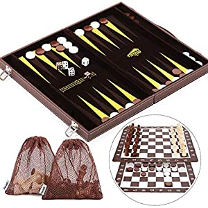 Peradix Leather 3 in 1 Chess Set - 18.2