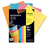 Wausau Astrobrights Wide Ruled Filler Paper