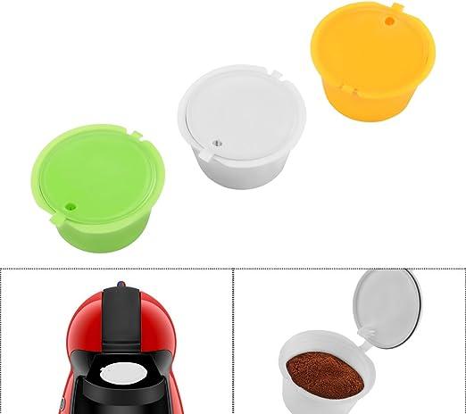 FreeLeben Cápsulas de Café Vainas, 3 Unidades Reutilizable Universal Dolce Gusto Máquina Filtro de Café sin BPA, con Cuchara y Cepillo: Amazon.es: Hogar