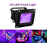Tools & Hardware : UV LED Black Light, HouLight High Power 10W Ultra Violet UV LED Flood Light IP65-Waterproof (85V-265V AC) for Blacklight Party Supplies, Neon Glow, Glow in the Dark, Fishing, Aquarium, Curing