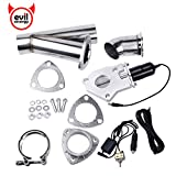 #6: Evilenergy 2.25 Inch Exhaust Cutout Manual Switch Valve Motor Kit