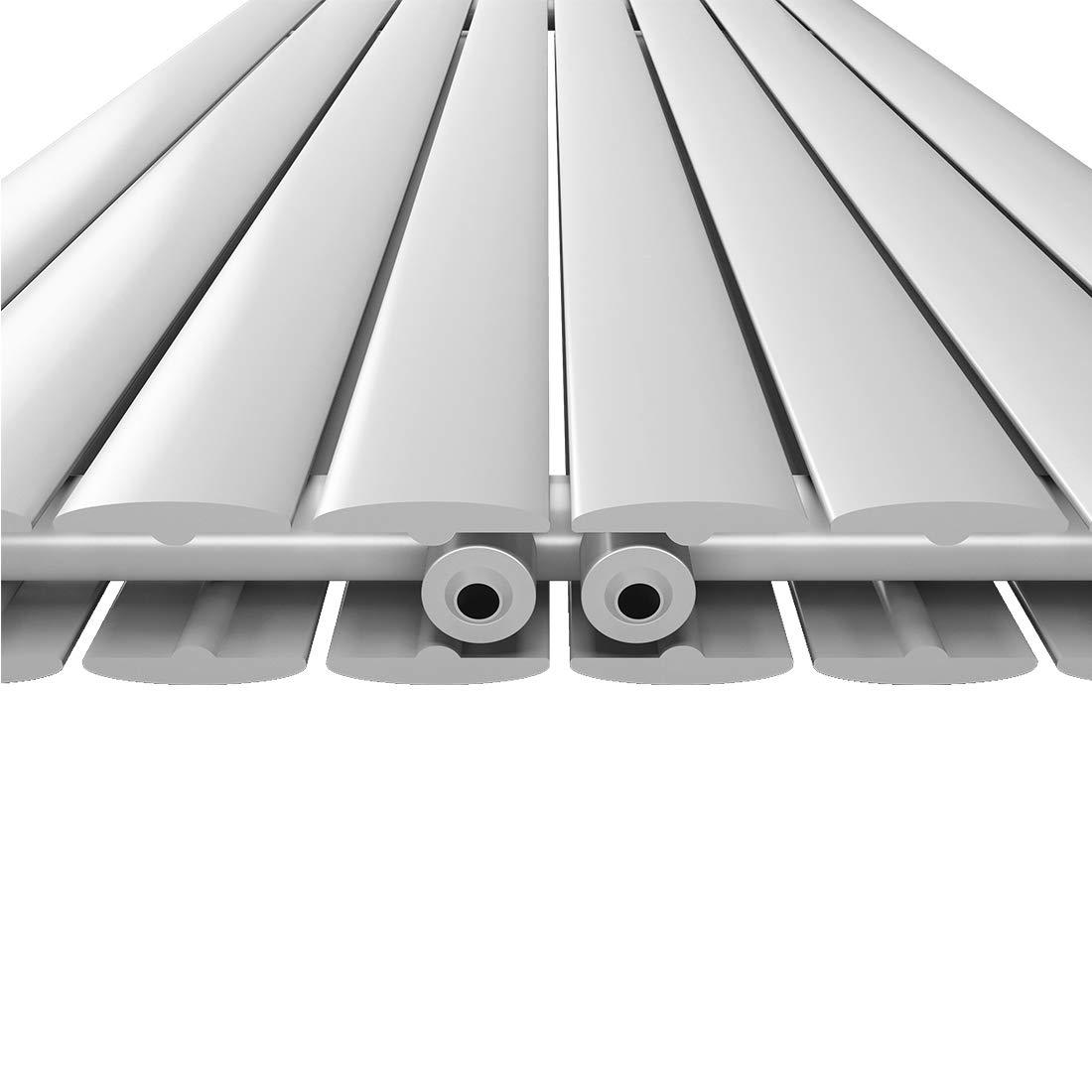 2036W Vertikal Heizk/örper Design Paneelheizk/örper 1600x620mm Wei/ß flach Doppellagig Mittelanschluss Heizung