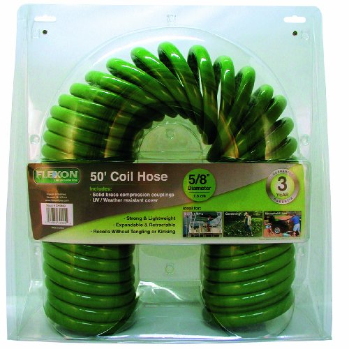 Flexon PCH5850 Coil Hose, Green, 50 feet from Flexon
