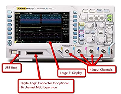 Rigol DS1104Z-S Plus 100 MHz Digital Oscilloscope with 4 Channels