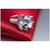 Hot Woman White Sapphire 925 Silver Filled Wedding Bridal Ring Gift Size 5-11 By jindaporn (6)