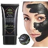 Charcoal Black Facial Mud Mask- Blackhead Peel Off Remover - Deep Skin Oil ...