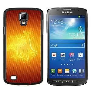 EJOOY---Cubierta de la caja de protección para la piel dura ** Samsung Galaxy S4 Active i9295 ** --Caballo del fuego