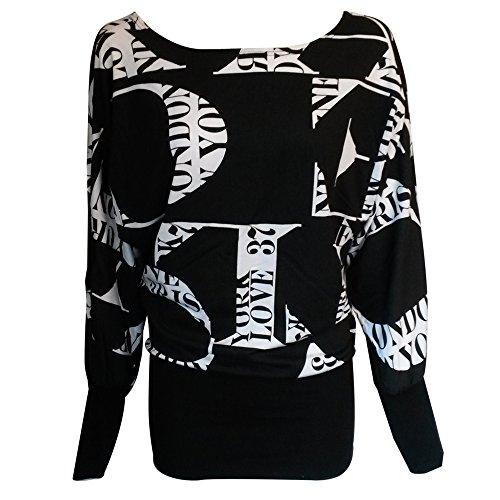 The Home of Fashion - Camiseta de manga larga - Túnica - Cuello redondo - para mujer