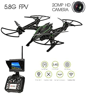 Drone with Camera 720p HD Camera Super Wide Angle 5.8G FPV QuadCopter RC Drone with 2.0MP HD Real-time Camera and Barometer Set High Function4CH - 6 Axis Gyro Drone Master JXD 506G