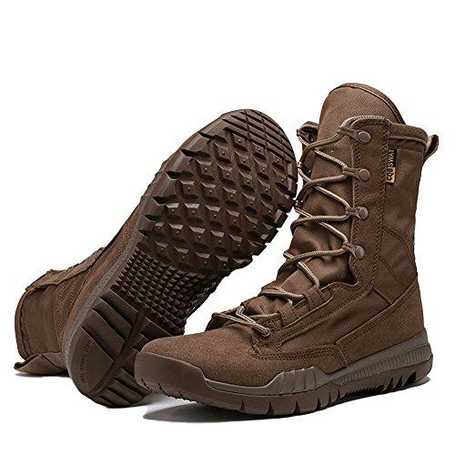Boots High ASJUNQ Army Leggero Trekking Leggero Scarpe Tactical Brown Top Uomo Sneakers da da Tactical Leggero Boots Arrampicata xYYpHqaw