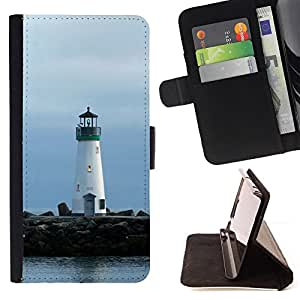 Jordan Colourful Shop - Lighthouse Lonely Lighthouse For Apple Iphone 6 - Leather Case Absorci???¡¯???€????€?????????&Ati
