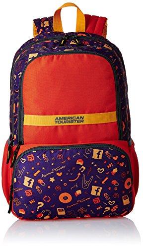 American Tourister Hashtag Orange Casual Backpack (Hashtag 02_8901836130829)