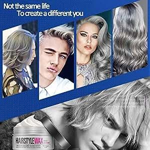 Hot Useful Grey Silver DIY Hair Color Wax Mud Dye Coloring Cream Long Lasting Temporary Modeling Unisex : Gray