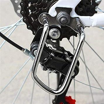 fghdf Bici de Aluminio Posterior de la Bicicleta del Engranaje Desviador Vainas Protector