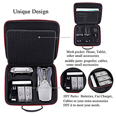 Hard Storage Carrying Case for DJI Mavic 2 Zoom/Pro Drone and Most Accessories(Not fit for Mavic pro/Mavic Platinum): Toys & Games