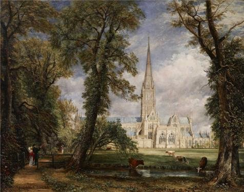 The Perfect Effect Canvas Of Oil Painting 'John Constable - Salisbury Cathedral From The Bishop's Garden, 1826' ,size: 24x30 Inch / 61x77 Cm ,this Imitations Art DecorativePrints On Canvas Is Fit For Living Room Decoration And Home Gallery Art And Gifts