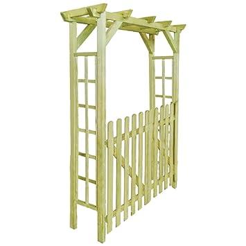 Vidaxl Arche Pour Rosiers Porte De Jardin Bois Imprégné Terrasse Patio Arceau