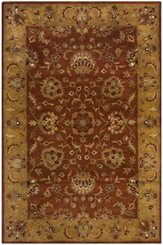 Safavieh Heritage Collection HG820A Handcrafted Traditional Oriental Red and Natural Wool Area Rug 2 x 3