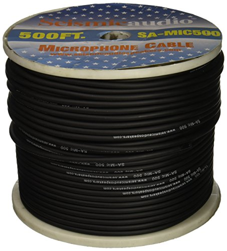 Seismic Audio - SA-MIC500 - Spool of 500 Feet of Microphone Cable - Build Your Own Mic Cables (Bulk Microphone Cable)