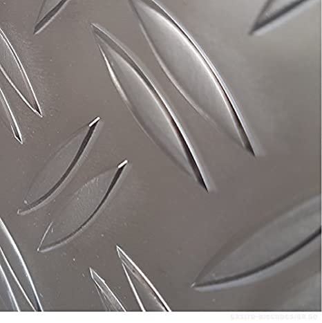 Aluminium Tr/änenblech 2000x1500mm DUETT 2,5//4,0mm stark gro/ße Auswahl ALU Riffelblech Warzenblech