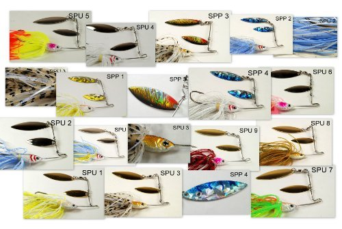 Akuna Bulk Pack of 113 lures with Crankbaits, Spoons and Spinnerbaits by Akuna