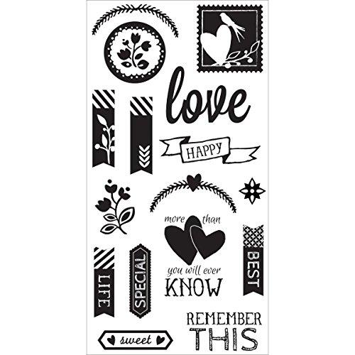 "UPC 729632159145, Hampton Art Clear Stamps 4""X8"" Sheet-Love"