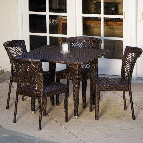 Great Deal Furniture 235372 Dana Point 5-Piece Outdoor Dining Set, Brown (Fully Furniture Garden Assembled)