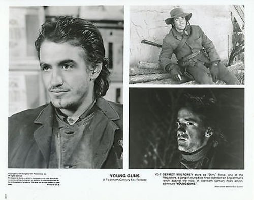 DERMOT MULRONEY/YOUNG GUNS/8X10 ORIGINAL PHOTO AA9878