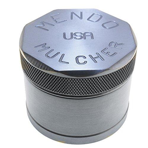 Mendo Mulcher Billet Aluminum 4 Piece Grinder with Screen (2.25 Inch (Medium), Aluminum) ()