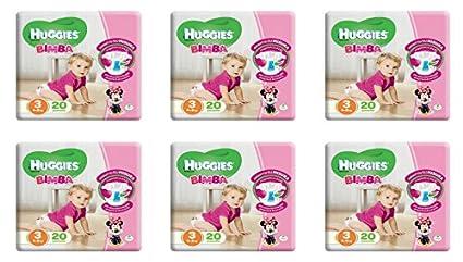120 Pannolini para la niña Misura 3 Huggies Infantil Pañal tamaño terza oferta