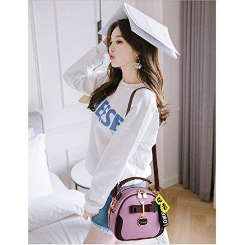 Bolso Cruzado Coreano del Mini Bolso Crossbody de la Moda de la Muchacha del Paquete Diagonal del Solo Verano Citron Purple