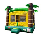 Inflatable Bounce House, 13-Foot by 12-Foot Bounce Area, Crossover Tropical Oasis Complete, with Included Blower, Stakes, Repair Kit, and Storage Bag