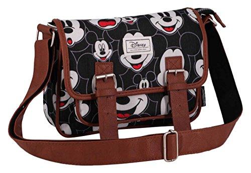 Classic Mickey 26 Negro Karactermania Cm Visages Bolsos Disney Bandolera Oq4aTH6