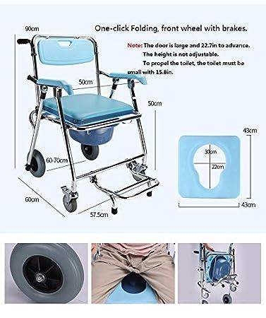 Amazon.com: YUNSHINE Silla de ducha plegable multifunción ...