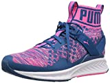 PUMA Women's Ignite Evoknit Wn's Cross-Trainer Shoe, True Blue-Knockout Pink White, 9.5 M US