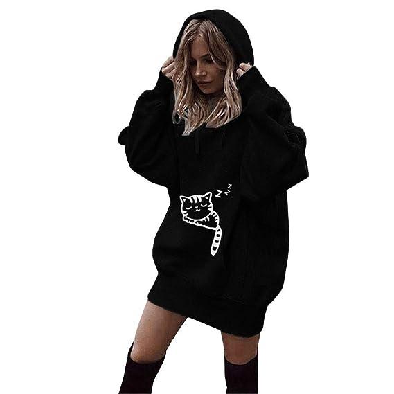 Damen Mode Einfarbig Kleidung Hoodies Pullover Mantel Hoody