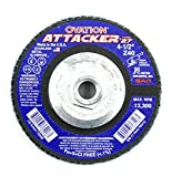 United Abrasives-SAIT 76206 Ovation Attacker Flap Disc, 4-1/2-Inch x 7/8-Inch 40 Grit, 10-Pack