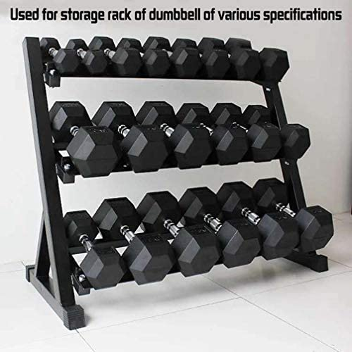 Barbell Hex Dumbbell Weights, Barbell Set of 2 or 1 Hex Rubber Dumbbell with Metal Handles for Strength Training Weight Loss Workout Bench Gym Equipment Home 10lb, 20 Lb, 30lb, 40lb, 50lb (50, 1PC) 6