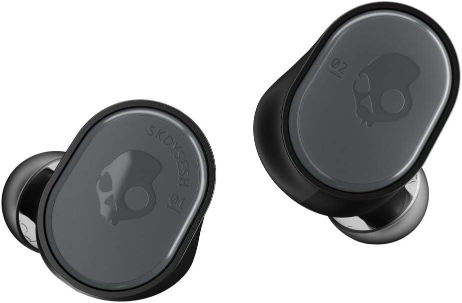 Skullcandy Sesh True Auriculares inalámbricos con Funda de Carga, Tecnología Bluetooth y Micrófono, Batería de hasta 10 Horas, Resistencia al Sudor, al Agua y al Polvo IP55, Negro