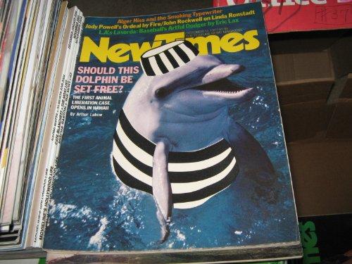 New Times Magazine (Dolphin Set Free ? , Alger Hiss , Jody Powell , LA's Lasorda ,, October 14 , 1977)
