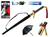 Bleach Officially Licensed Kisuke Urahara Samurai Sword Handle Anime Umbrella