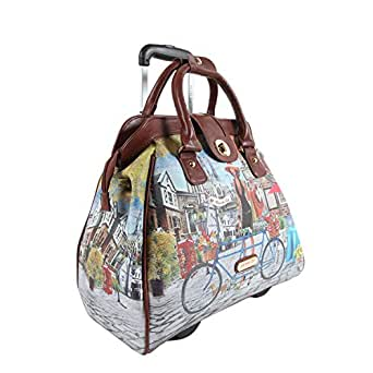 Nicole Lee Cheri Rolling Business Tote, Bicycle, One Size