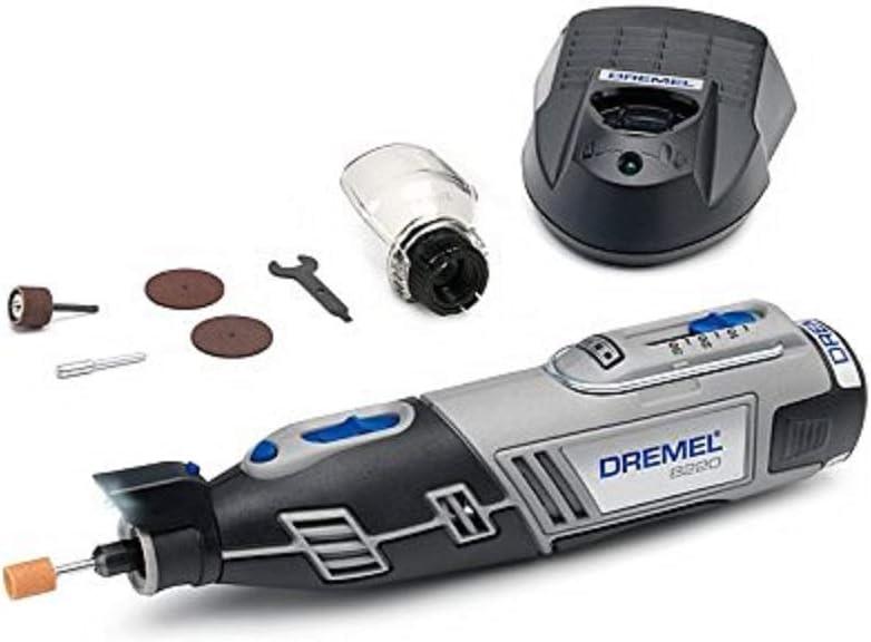 Dremel 8220 Multiherramienta a batería. Incluye 5 Accesorios y Complemento Resguardo de Protección. 12V