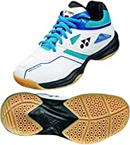 Yonex Power Cushion 36 Junior Indoor Shoe (White/Sky Blue)