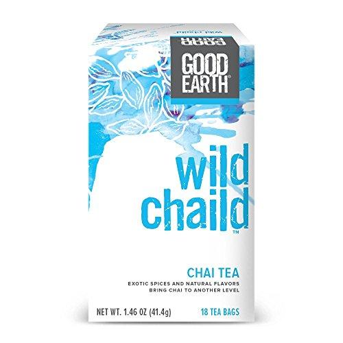 Good Earth India Tea - Good Earth Chai Tea, Wild Chaild, 18 Count Tea Bags (Pack of 6)
