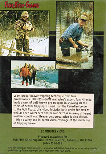 Dvd fur fish game professional beaver trapping for Fur fish and game