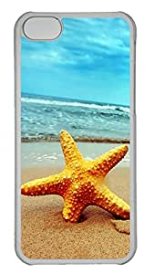iPhone 5C Case, iPhone 5C Cases -Beach Starfish 2 Polycarbonate Hard Case Back Cover for iPhone 5C¨C Transparent