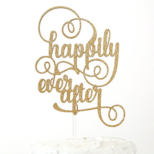 NANASUKO Wedding Cake Topper - happily ever after - Premium quality Made in ()