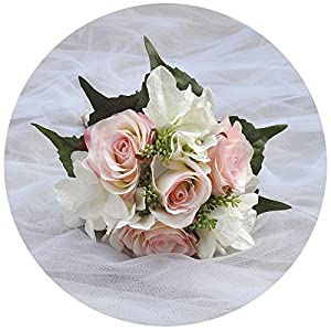 Azaleas Wedding Bouquet Bride Bridal Brooch Bouquet Bridesmaid Bouquet Valentine's Day Flowers Bouquet 1